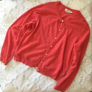 VINEYARD VINES Coral Cardigan Button Down Sweater